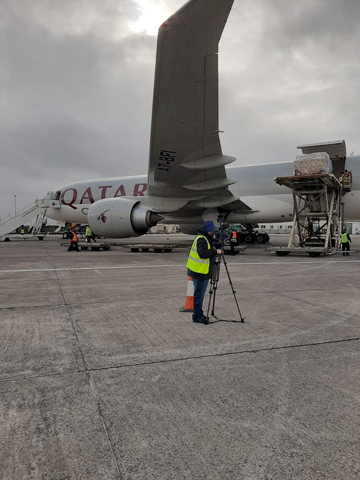 A special plane carrying vital medical equipment lands at Shannon Airport