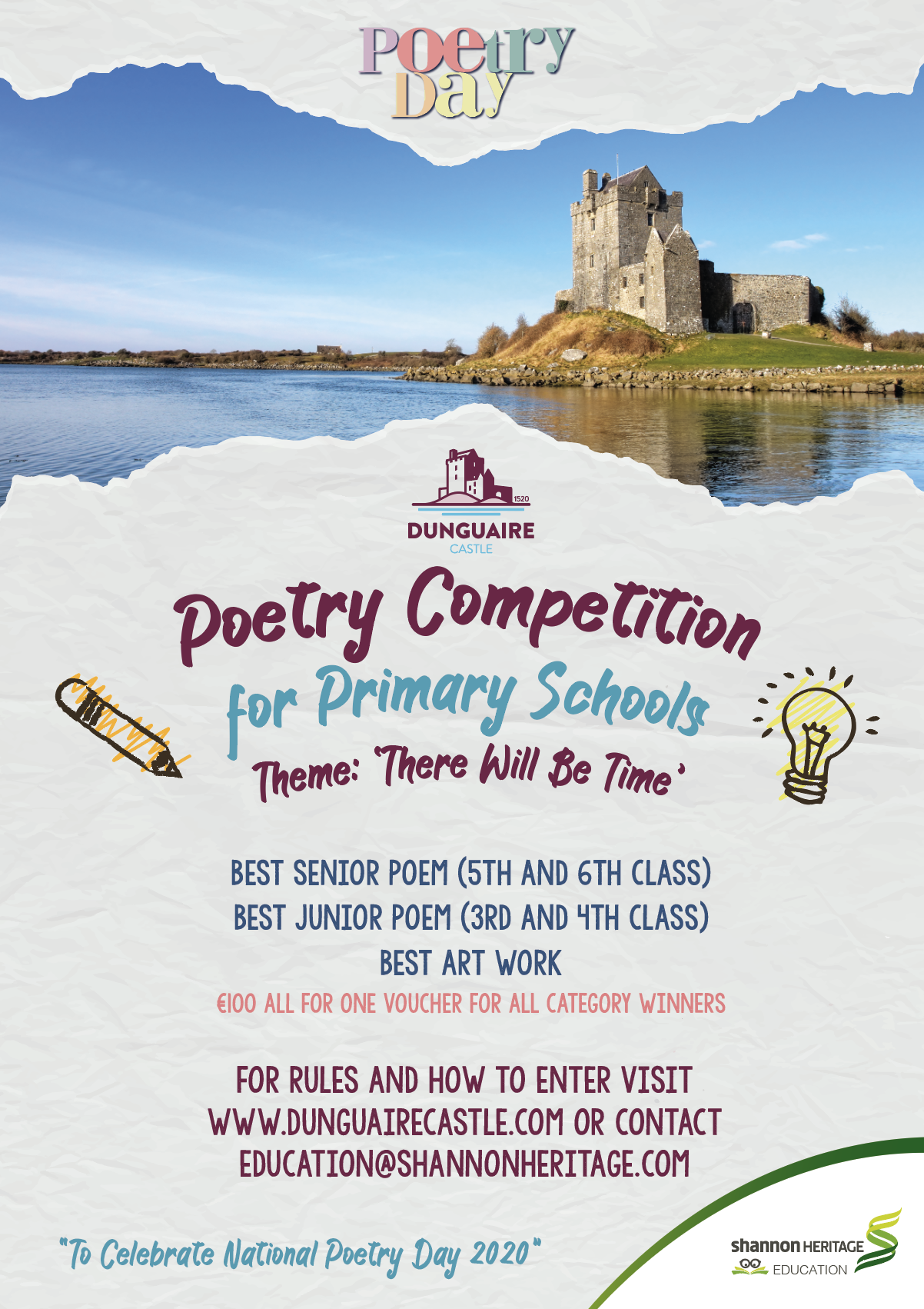Dunguaire Poetry Competition 2020